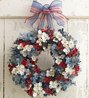 Beautiful Independence Day Door Wreath