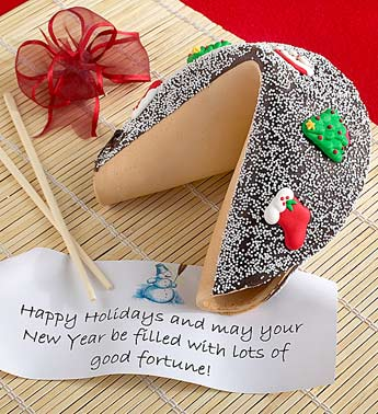 Gift Idea: Gigantic Holiday Fortune Cookie-Christmas :  cookie fortune cookie new years favors