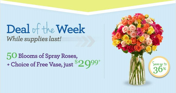 Flowers deals coupons