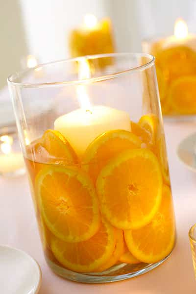 Orange Sliced Candle
