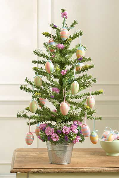 Easter Tree with Egg Ornaments