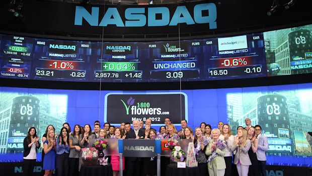 1800FLOWERS.COM Group at NASDAQ on 5/8/2012 for Mother's Day