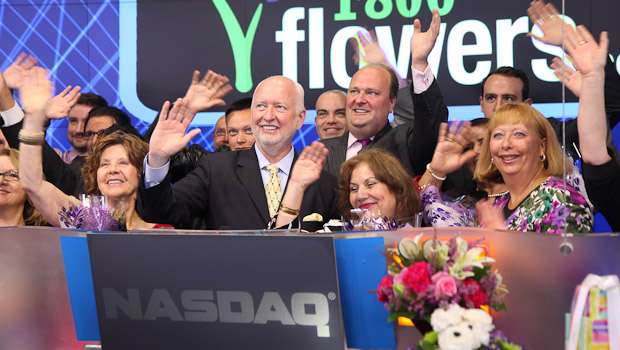The 1800Flowers Team Rings the Opening Bell at NASDAQ on May 8, 2012.
