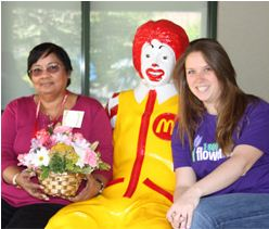 Mother's Day flowers to the Ronald McDonald House