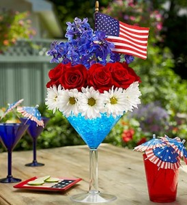 Red, White, and Blue Martini