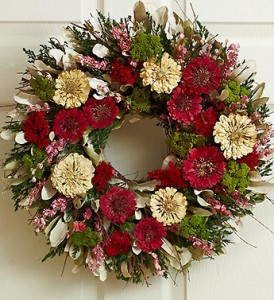 1800flowers.com Zinnia Floral Wreath