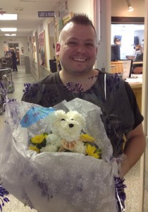 adopter with flower dog