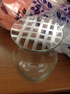 vase with grid