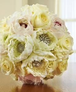 embellished bridal bouquet