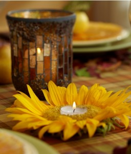 how to make a sunflower candle