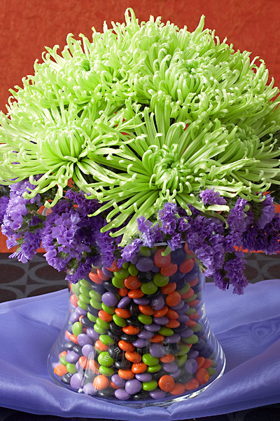 Halloween M&M Arrangement