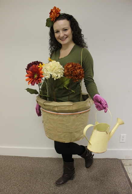 Last Minute Halloween Costume Idea DIY Flower Costume