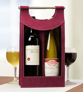 send red and white wine in a tote bag!