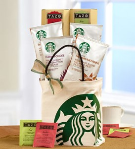 Coffee and Tea GIft Tote Bag from 1800Flowers.com