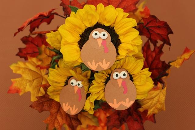 Thanksgiving Bouquet of Sunflower Turkeys