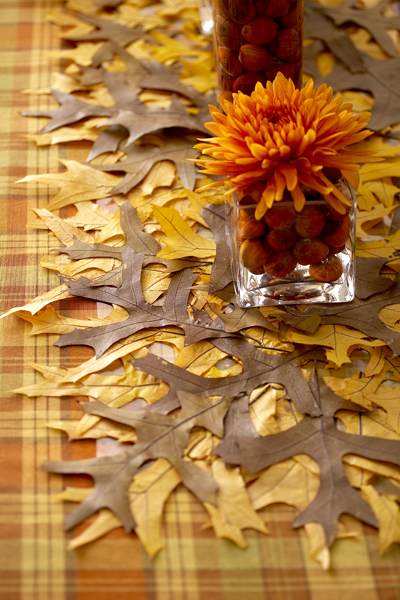 DIY Autumn Leaf Table Runner