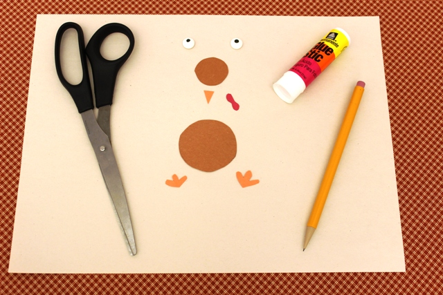 How to Cut a Turkey out of Construction Paper