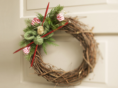 Christmas Wreaths for Knitters