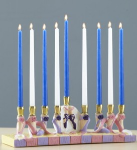 ballet menorah for chanukah