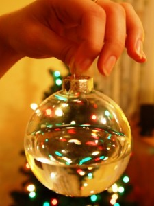 A Glass Ornament Filled With Water