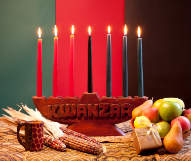 A Kinara Lit for Kwanzaa