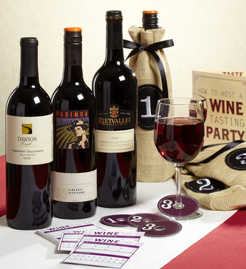 Complete Wine Tasting Party Kit Gift Box