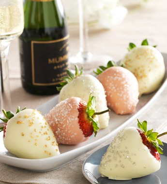 Hand-Dipped Fannie May Champagne Celebration Strawberries