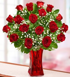 Blooming-love-premium-red-roses-in-red-vase-95285