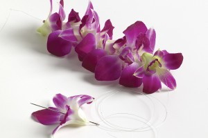 String flowers one by one for Hawaiian lei