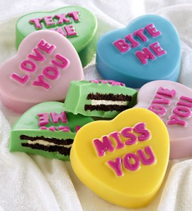 Love Note Conversation Heart Dipped Oreo Cookies