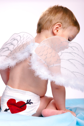 Baby Dressed as Cupid