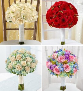 Four Color Combination Options for Bridal Bouquets