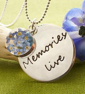 Memories Live Sterling Silver Pendant Necklace