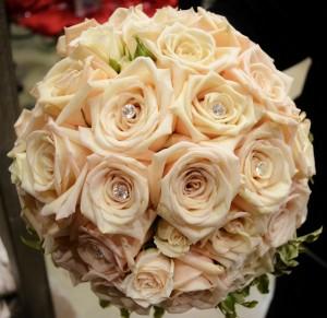 Sahara Roses and Diamonte Pins