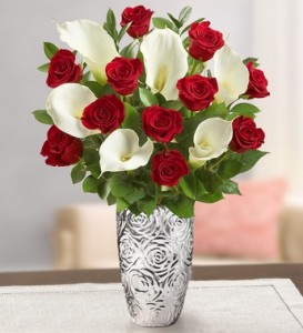 Timeless Red Rose and Calla Lily Bouquet
