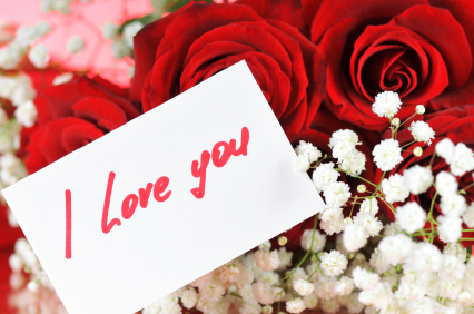 Valentine's Day Flowers With Love Note