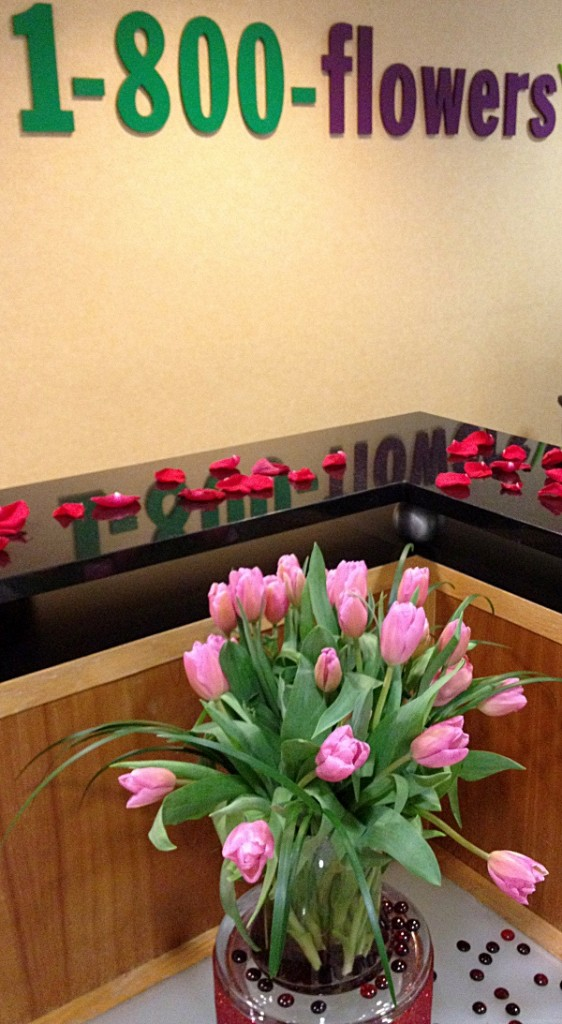 Valentines Day Flowers in the 1800flowers Lobby