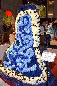 Back View of Royal Robe Made of Flowers