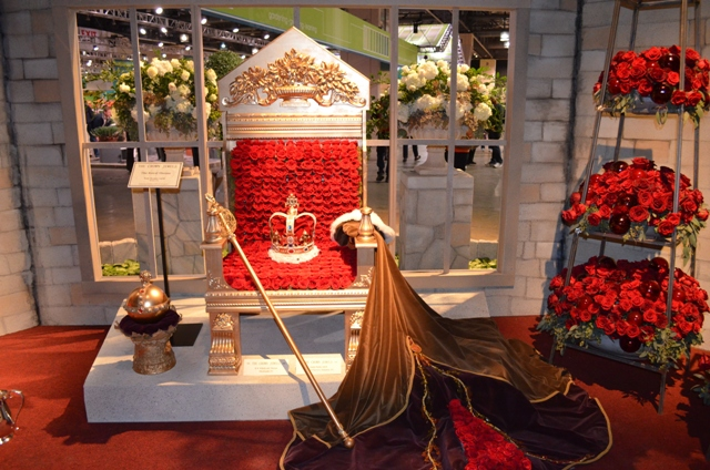 Royal Throne Made of Roses