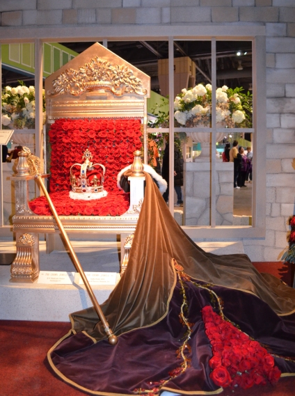 Close-Up of Royal Throne Made of Roses
