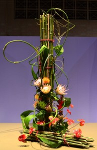 Tower of Exotic Flowers