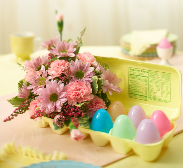 DIY Easter Floral Arrangement and Decorations