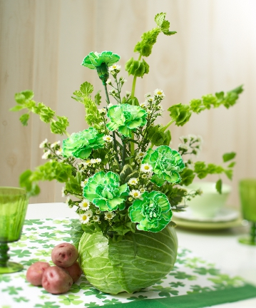 DIY St Patricks Day Flower Arrangement