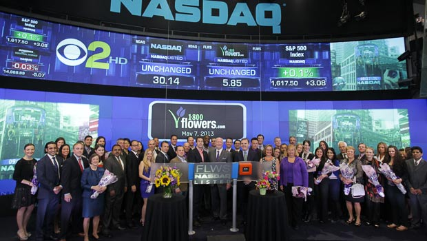 1-800-Flowers Team at NASDAQ on 5-7-13 for Mother's Day