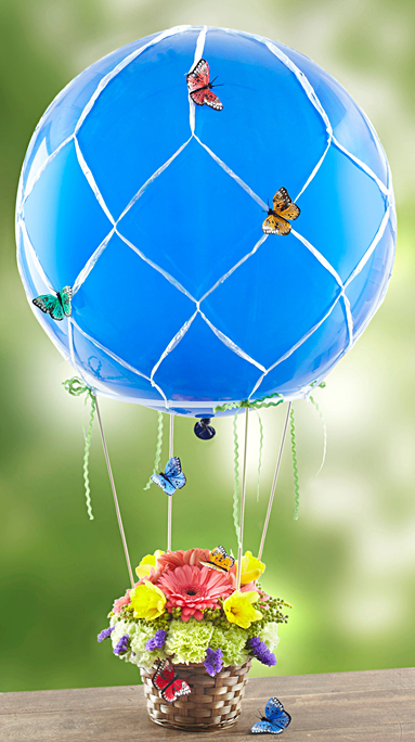 Butterfly Hot Air Balloon Arrangement