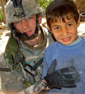 John Ryan Serving as a US Military Soldier in Iraq