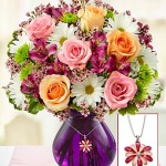 Mother's Devotion Bouquet With Necklace
