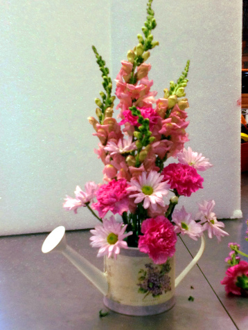 Snap Dragons, Carnations and Daisy Poms