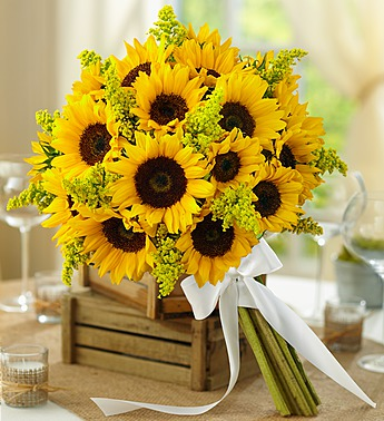 Country Wedding All-Sunflower Bouquet