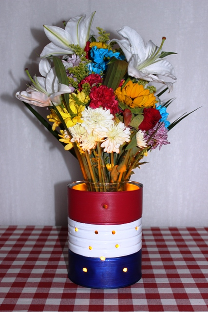 DIY 4th of July Luminary Vase